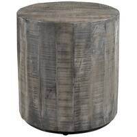 Eva Solid Mango Wood Accent Table