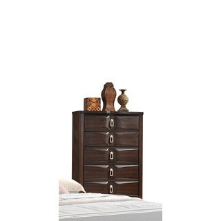 Lancaster Espresso Wood 5-drawer Chest