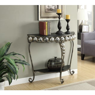 French Provence Black Metal Capri Entryway Table