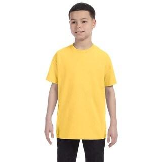 Heavyweight Blend Boys' Island Yellow Cotton/Polyester T-shirt