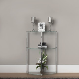 Convenience Concepts Designs2Go 3-Tier Glass Semi-Crcle Accent Table