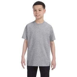Boys' Grey Heavyweight Blend Oxford T-shirt