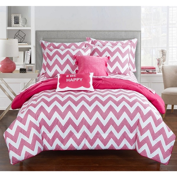 Chic Home Foxville Fuchsia 9-Piece Bed in a Bag with Sheet Set