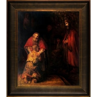 Rembrandt van Rijn 'Return of the Prodigal Son' Hand Painted Framed Canvas Art