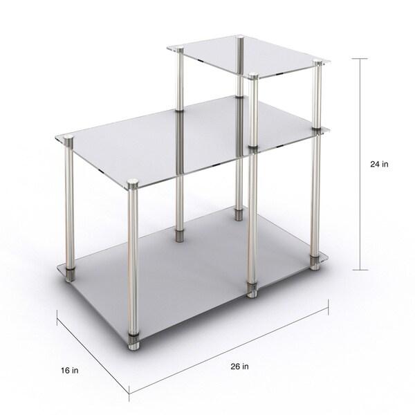 Porch & Den Japonica 3-tier Glass End Table