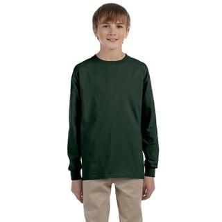 Boys Green Heavyweight Long-sleeve T-shirt