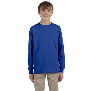 Boys' Royal Hevyweight Blend Long-sleeve T-shirt