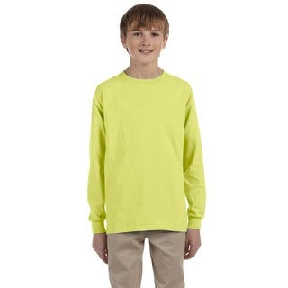 Boys' Safety Green Heavyweight Blend Long-sleeve T-shirt