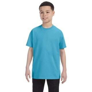 Boys' Aquatic Blue Heavyweight Blend T-shirt