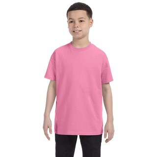 Boys' Heavyweight Cotton-blend Pink T-Shirt
