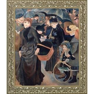 Pierre-Auguste Renoir 'The Umbrellas' Hand Painted Framed Canvas Art