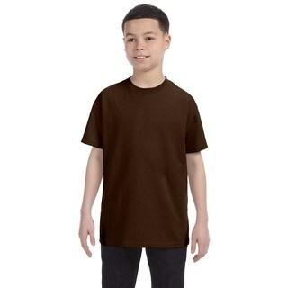 Boys' Chocolate Heavyweight-blend T-shirt