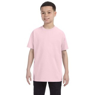 Boys' Heavyweight Blend Classic Pink T-Shirt