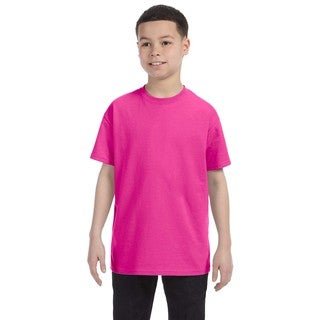 Boys' Cyber Pink Heavyweight Cotton and Ployester Blend T-shirt