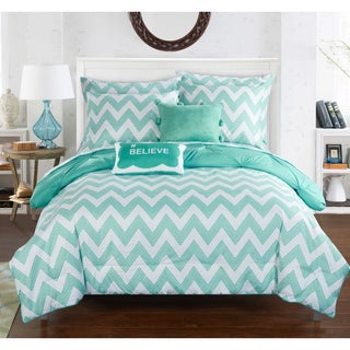 Chic Home Foxville Aqua 9-Piece Bed in a Bag with Sheet Set (2 options available)