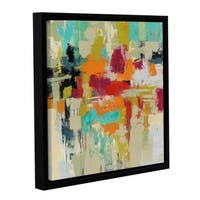 Silvia Vassileva's 'Summer Silk Road' Gallery Wrapped Floater-framed Canvas - Blue