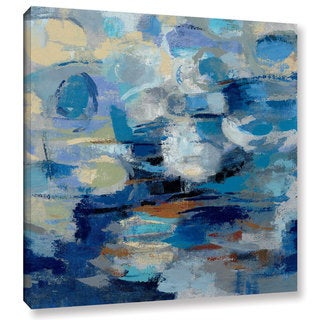 Silvia Vassileva's 'Ultramarine Waves I' Gallery Wrapped Canvas