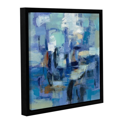 Silvia Vassileva's 'Ultramarine Waves II' Gallery Wrapped Floater-framed Canvas