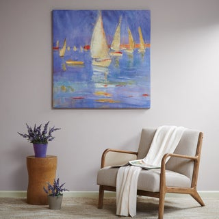 Madison Park 'Signature Sailing' Color Muti-Hand-embellished Canvas