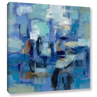 Silvia Vassileva's 'Ultramarine Waves II' Gallery Wrapped Canvas