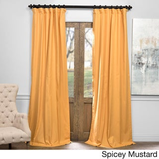 Exclusive Fabrics Solid Cotton True Blackout Curtain