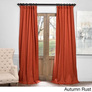 Exclusive Fabrics Solid Cotton True Blackout Curtain