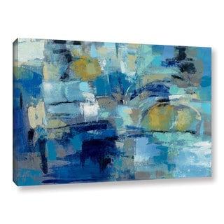 Silvia Vassileva's 'Ultramarine Waves III' Gallery Wrapped Canvas