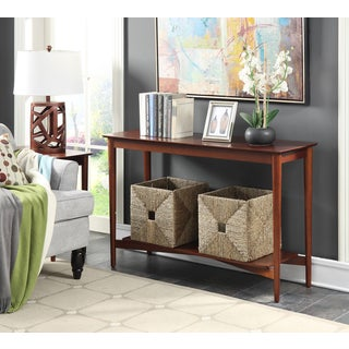 Convenience Concepts Savannah Mahogany Console Table