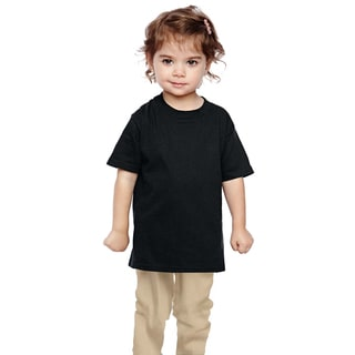 Boys' Black Heavy Cotton T-shirt