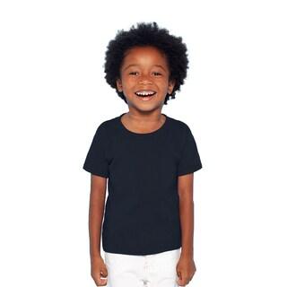 Gildan Boys' Navy Heavy Cotton T-shirt