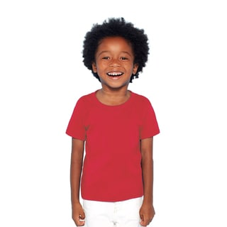 Boys' Red Heavy Cotton T-shirt