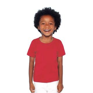 Boys' Red Heavy Cotton T-shirt