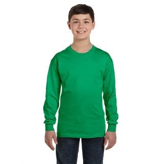 Heavy Cotton Boys' Irish Green Long-sleeve T-shirt