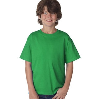 Link to Fruit of The Loom Boys' Heather Green Heavy Cotton Retro T-Shirt Similar Items in Boys' Clothing