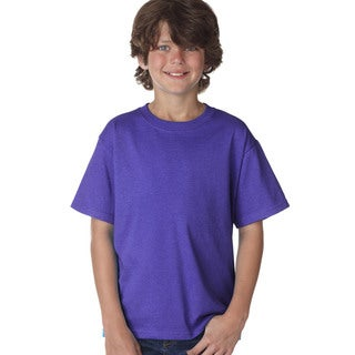 Fruit Of The Loom Boys' Purple Heavy Cotton T-shirt