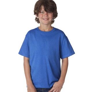Fruit of the Loom Boys' Royal Bue Heavy Cotton Heather T-shirt