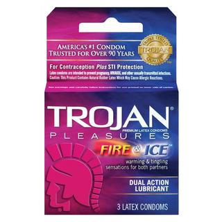Trojan Fire and Ice Lubricated Condoms (Pack of 3)