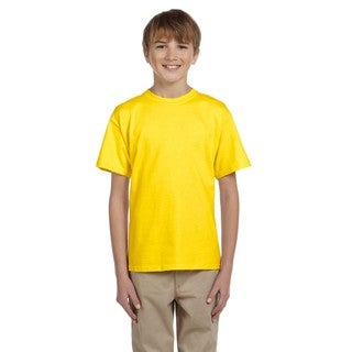 Fruit Of The Loom Boys' Yellow Heavy Cotton Heather T-shirt