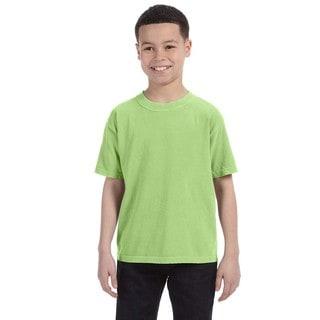 Boys' Aloe Green Ring-spun Cotton Garment-dyed T-shirt