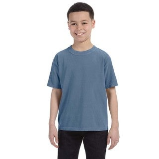 Garment-dyed Boys' Blue Jean Ring-spun Cotton T-shirt
