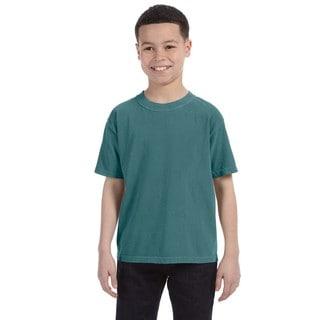 Boys' Garment-dyed Ring-spun Blue Spruce Cotton T-shirt