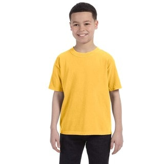Boys' Citrus Ring-spun Garment-dyed Cotton Short-sleeve T-shirt