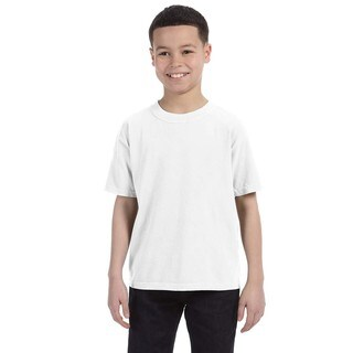 Boys' White Garment-Dyed Ring-Spun Cotton T-Shirt