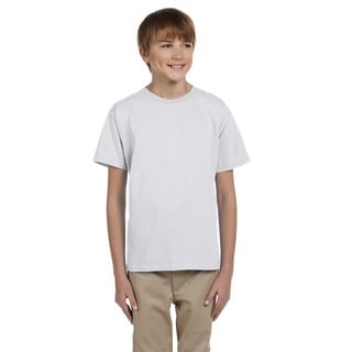 Fruit of the Loom Boys' Ash Heather Heavy Cotton T-shirt