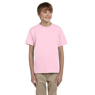 Fruit Of The Loom Boys' Classic Pink Heavy Cotton/Polyester T-shirt