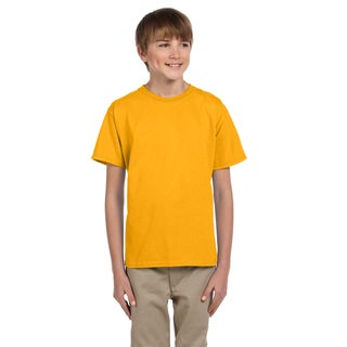 Fruit Of The Loom Boys' Gold Heavy Cotton T-shirt