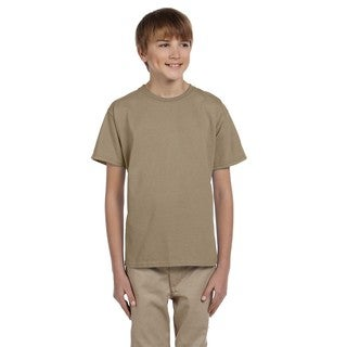 Fruit Of The Loom Boys' Heather Khaki Heavy Cotton T-shirt