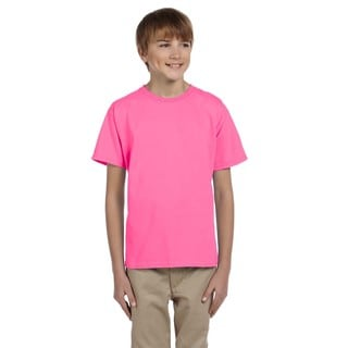 Fruit Of The Loom Boys' Pink Heavy Cotton T-Shirt