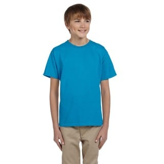Fruit Of The Loom Boys' Pacific Blue Heavy Cotton Heather T-shirt
