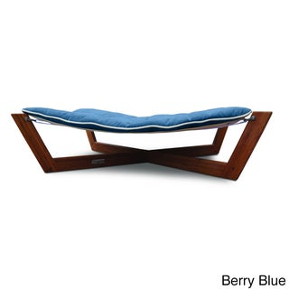 Bamboo Cross Dog/Cat Bed Hammock (Option: Berry Blue)